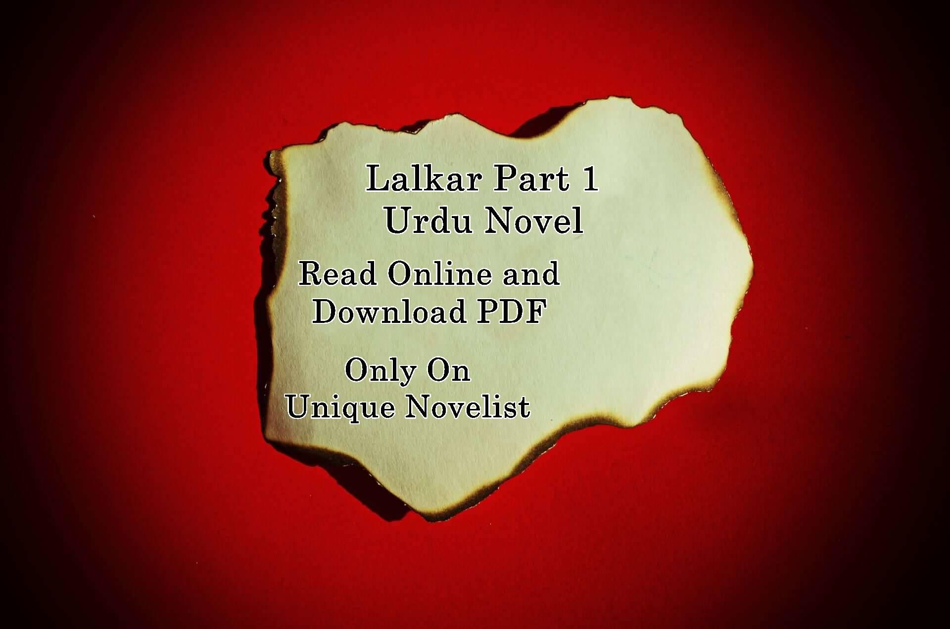 Lalkar Part 1 Novel PDF Download